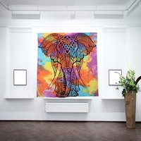 Multi color Elephant Tapestry Tie Dye Printed Bedding Outlet Bedspread Indian Bed Decor Wall Hangings Tapestry
