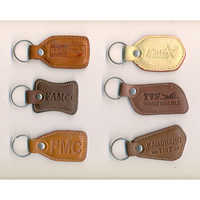 Leather Fabric Keychain