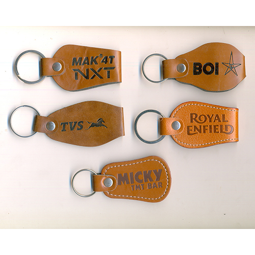 Customized Logo Leather Keychain