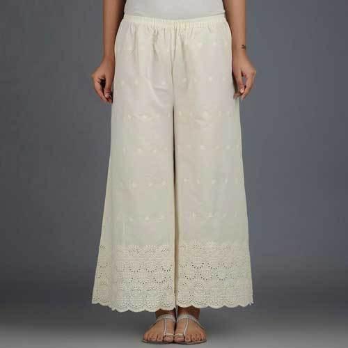 Ladies Cotton Chiankari Palazzo