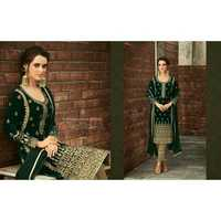 Ladies Embroidered Straight Suit