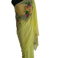 Ladies Hand Printed Saree