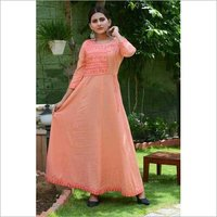 Long Rayon embroidered kurtis