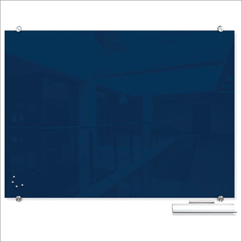 Blue Magnetic Glass Board