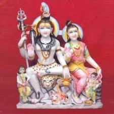 Shiva Parvati Statue Marble