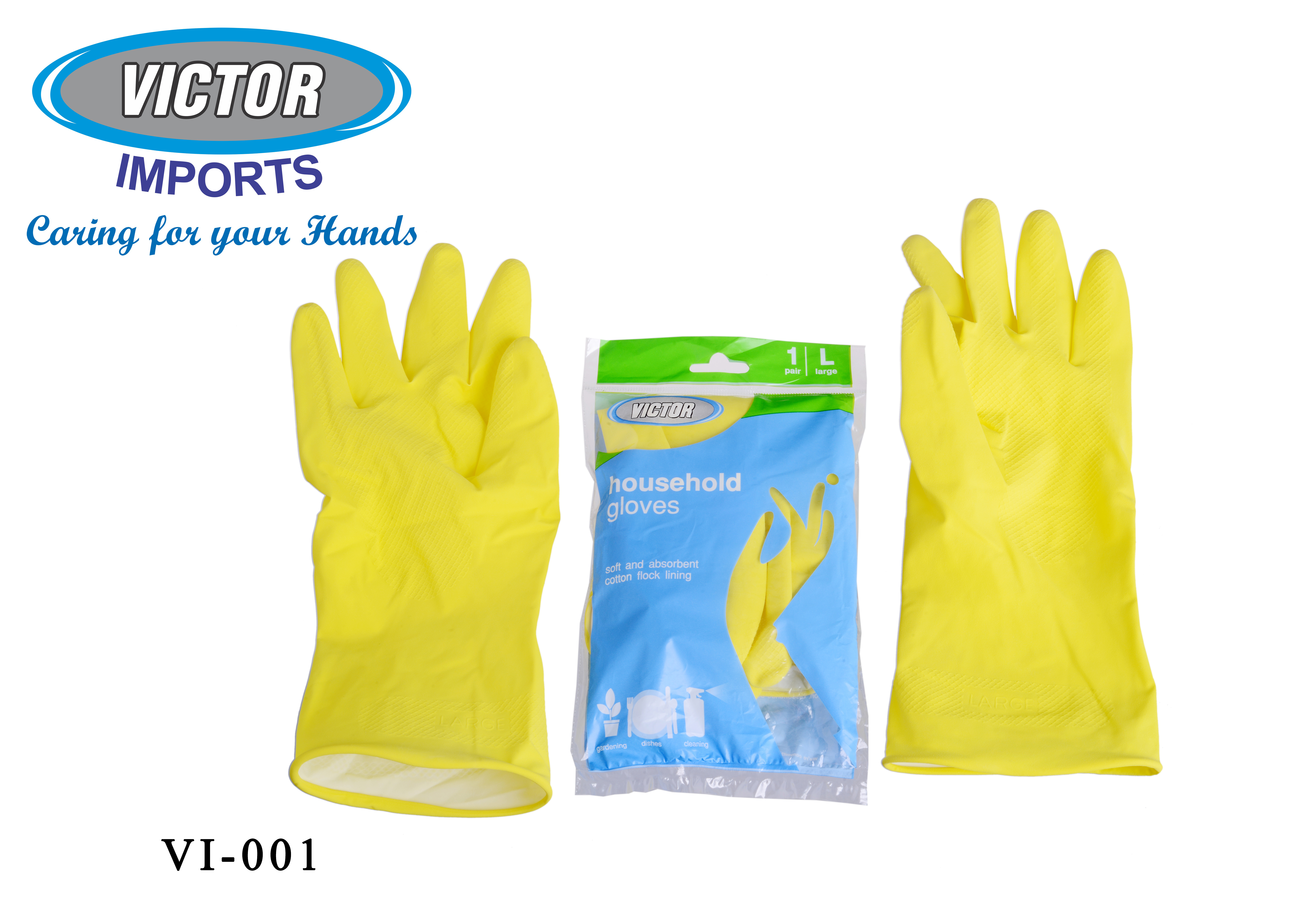 Flock Lined Rubber Hand Gloves