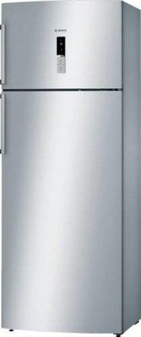 Bosch 401 L Frost Free Double Door 2 Star Refrigerator  (Silver Inox, KDN46XI30I)
