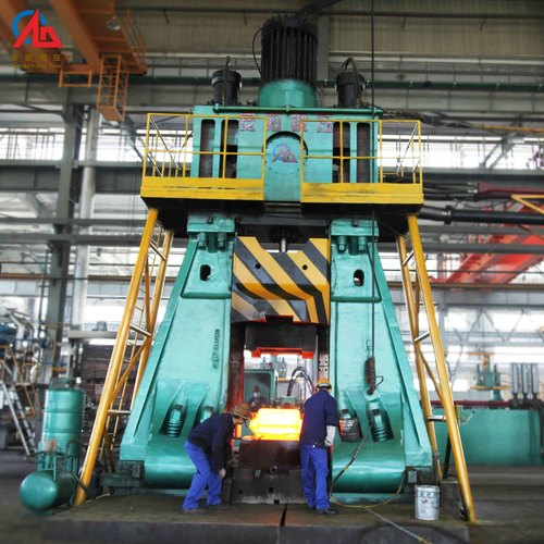 Fully hydraulic die forging hammer for closed die forging