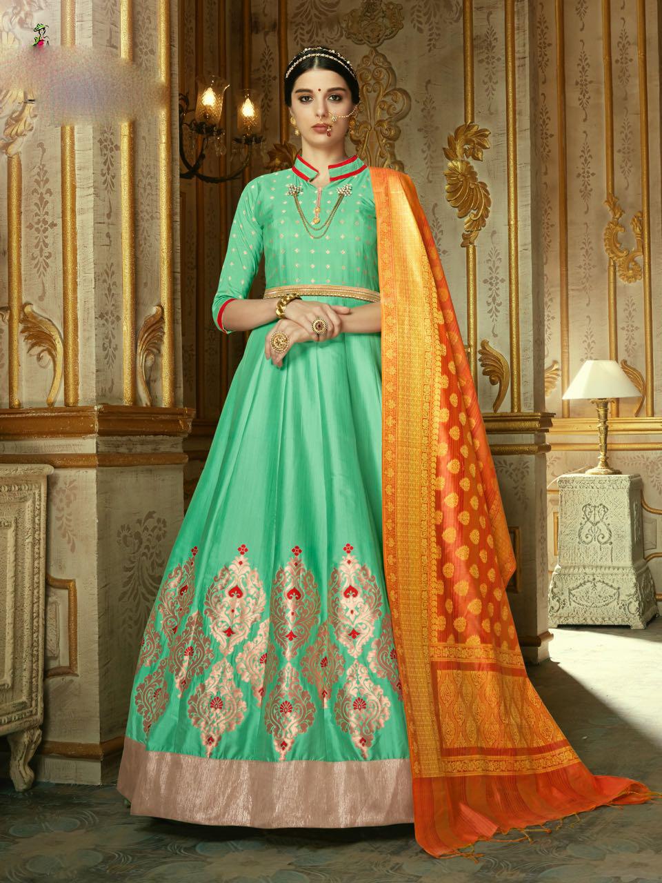 Elegent Gown Style Anarakali Suit
