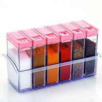 6 Grids Plastic Spice Jar