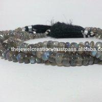 Natural Labradorite Gemstone Plain Roundel Beads Laborite