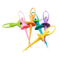 Plastic Dancing Doll Fruit Fork