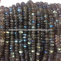 8mm Natural AAA Labradorite Gemstone Smooth Rondelle Loose Beads