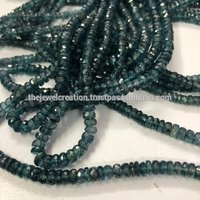 RARE Natural Indigo Kyanite Gemstone Faceted Rondelle Bead Strands