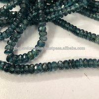 Natural Indigo Kyanite Faceted Bead Gemstone Strands