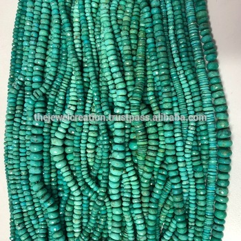 Natural Real Arizona Turquoise Faceted Rondelle Beads 3mm