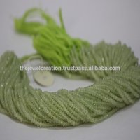Natural Green Prehnite Stone Faceted Rondelle Beads Gemstone