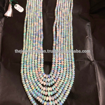 Natural AAA Ethiopian Opal Stone Plain Gemstone Beads 4-12mm