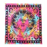Sun and Moon Star Tapestries Indian Mandala Wholesale Bed sheet Bedspread Design Hippie Tapestry
