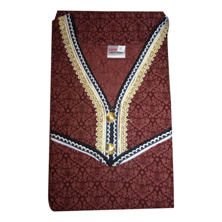 Ladies Designer Brown Cotton Nighty
