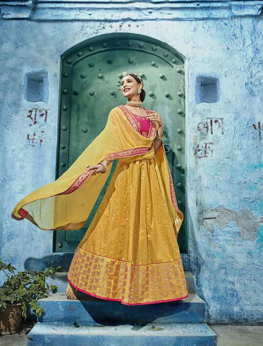 Traditional Wedding wear Heavy Silk Lehengas