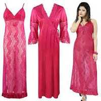 Ladies Red Night Dress