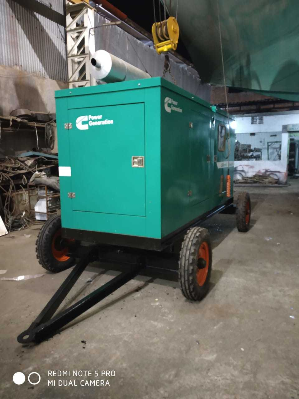 100 Kva Silent Cummins Generator Set With Trolly Supplier,100 Kva