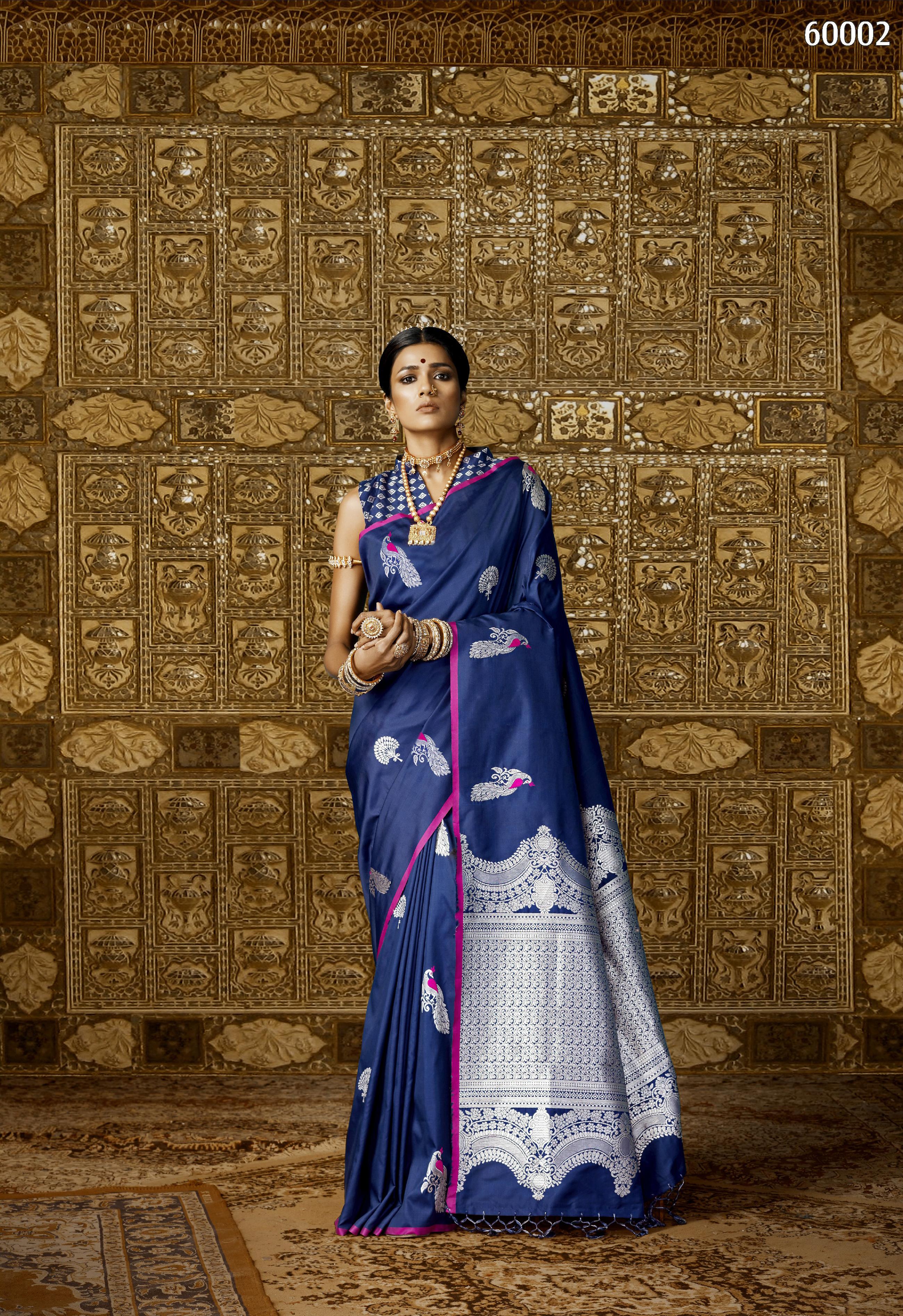 Traditional Kantha Silk Saree