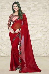 Stylish Chiffon Saree