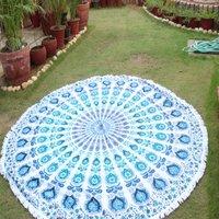 Parete rotonda indiana Hangings della stuoia di Yoga del tovagliolo di spiaggia di Mandala Ombre del cotone