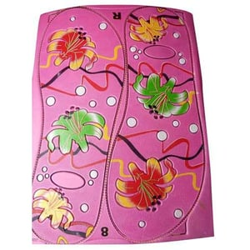 Ladies Printed Slipper Rubber sole Sheet