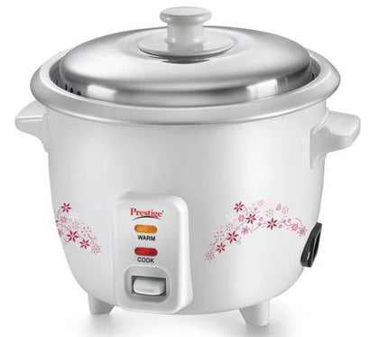 Retain Your Flavours Prestige Delight Prwo Electric Rice Cooker With Steaming Feature  (1.5 L, White)