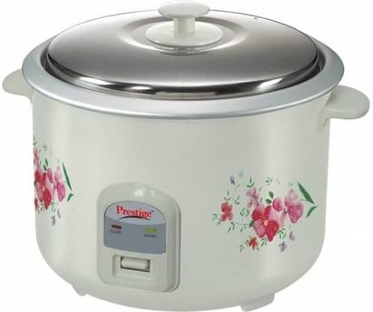 Functions: Cooking Prestige Prwo 1.8-2 Electric Rice Cooker With Steaming Feature  (1.8 L)