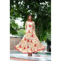 Ladies Printed Anarkali Kurti