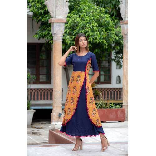 Ladies Angrakha Fancy Kurti