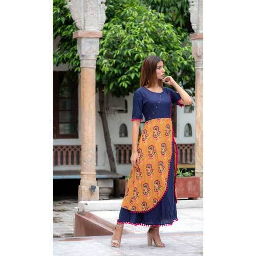 Ladies Designer Angrakha Long Kurti