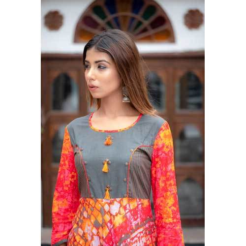 Printed Ladies Long Kurti