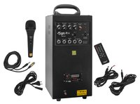 80 WATTS PORTABLE SYSTEM WITH 2 EXTERNAL SPEAKER