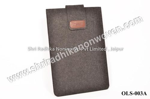 Polyester Grey Fabric fancy felt Laptop Sleeve