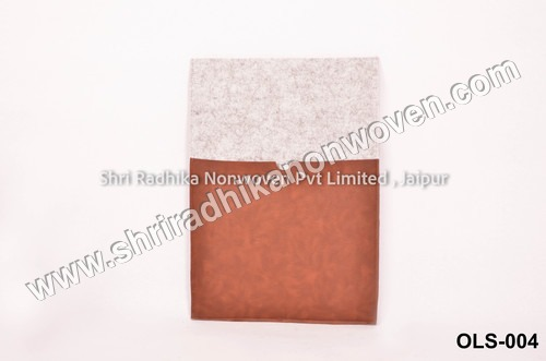 Grey Fabric fashionable felt laptop Sleeve