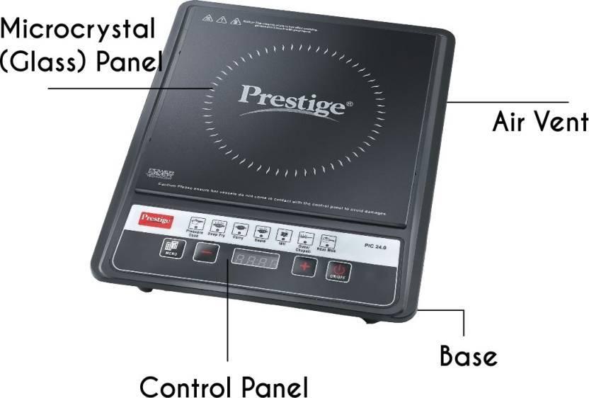 Prestige PIC 24 Induction Cooktop  (Black, Push Button)
