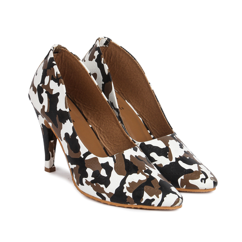 Ladies Printed Heel Sandals