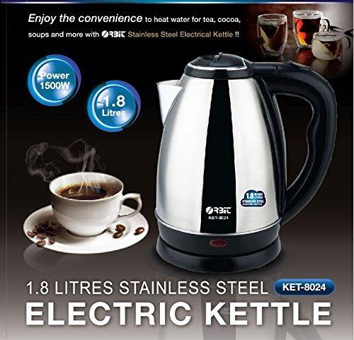 ORBIT Ket-8024 Stainless Steel 1.8 LTR Electric Kettle