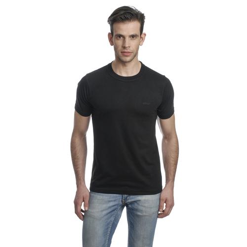 Round Neck Mens T Shirt (Black)