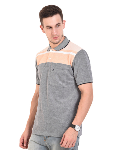 Peach (Mens Polo T-Shirt)