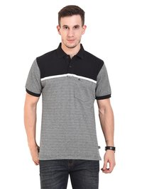BLACK WHITE (Mens Polo T-Shirt)