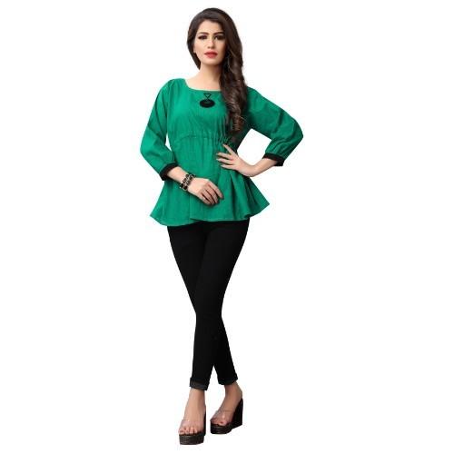 Dark Green Ladies Top
