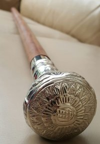 Victoria  Brass Designer Handle Vintage Walking Cane