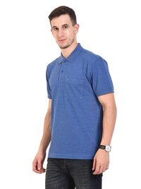 Mens POLO T-SHIRTS (ROYAL MELANGE)