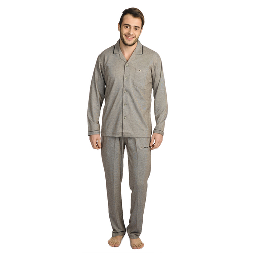 Mens Athlet Night Suit - BROWN
